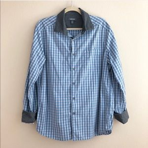 Kenneth Cole Reaction Check Button Down